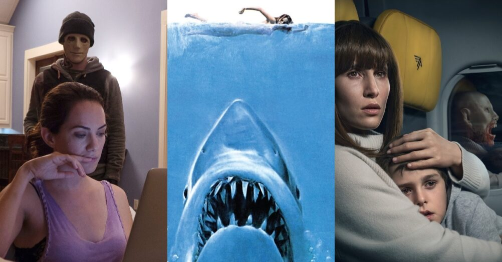 Arrow in the Head presents a list of the top 10 Best Horror Movies On Netflix Right Now! Jaws, Blood Red Sky, Hush, The Strangers, and more!