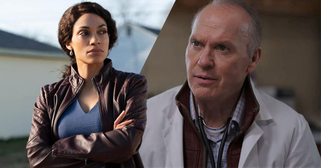 Hulu debuts a new trailer for Dopesick, starring Michael Keaton and Rosario Dawson.