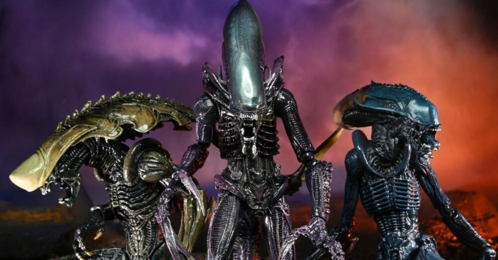 NECA has created action figures that imagine what xenomorphs from the 1994 Alien vs. Predator video game would have looked like in a movie