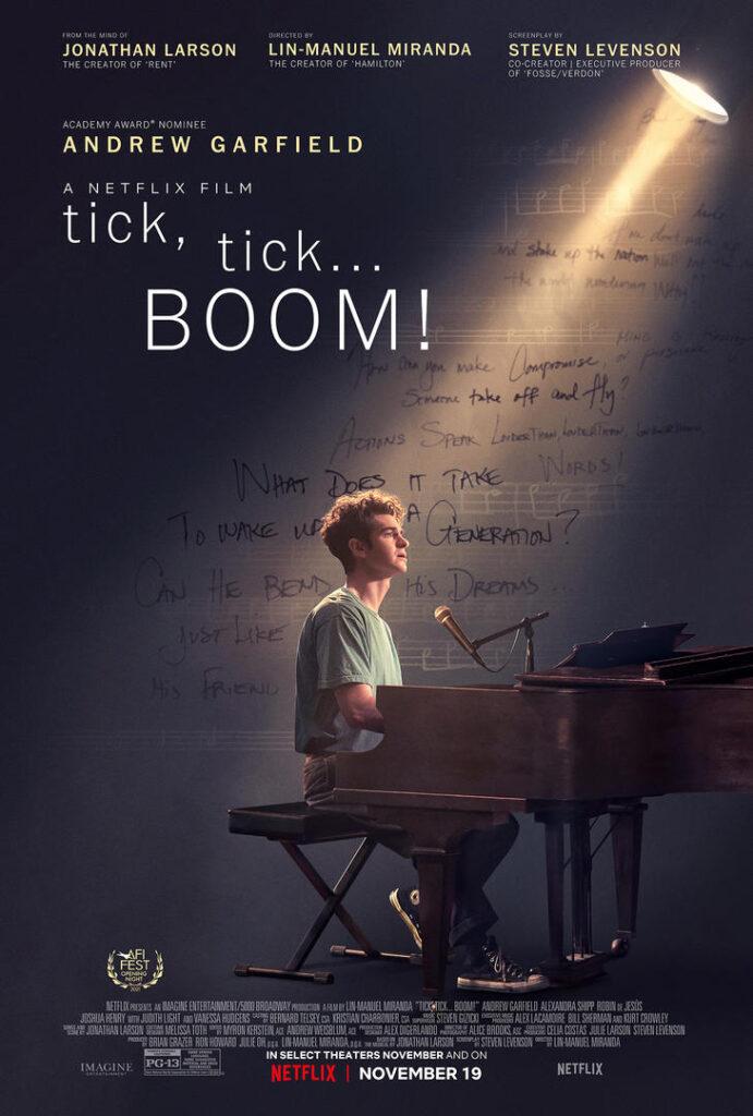 tick, tick...BOOM!, Andrew Garfield, Netflix, Lin-Manuel Miranda, Jonathan Larson, musical
