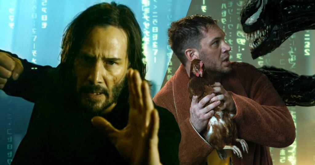 The Matrix 4, Venom 2, Keanu Reeves, Tom Hardy, Venom: Let There Be Carnage, The Matrix: Resurrections